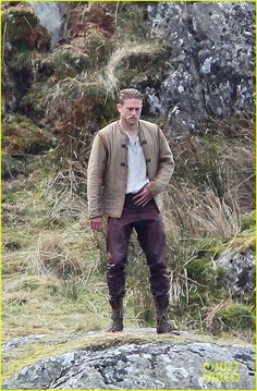 Charlie Hunnam Films 'Knights of the Roundtable' in Wales