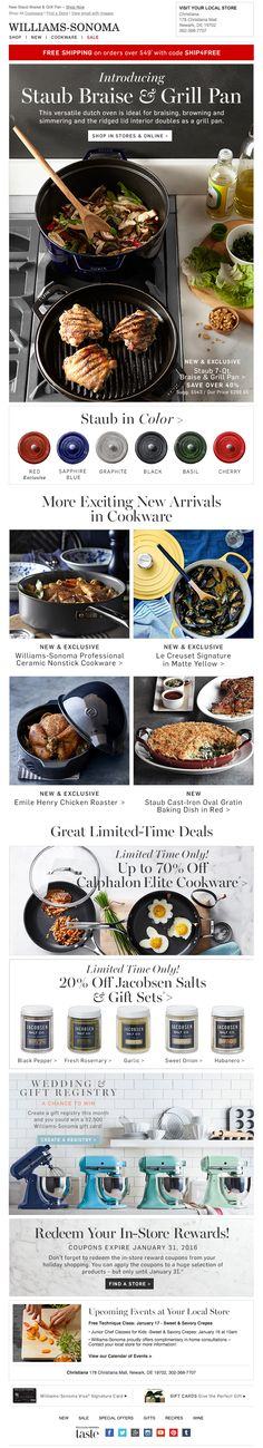 Williams Sonoma email