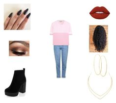 """""""Untitled #29"""" by nobiebey on Polyvore featuring New Look, Topshop, Fendi, Lime Crime and Lana"""