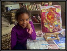 """Son premier tableau au """"Couteau"""" - Kinshasa, RDC, Modave, Huy, Belgique, Et Ailleurs, Carnet de notes..."""