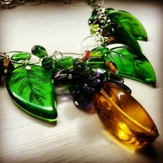 'Eden' necklace. Silver chain dripping with Czech glass beads. From Church of Adornment.