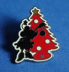 Disney Pin Dlr 2008 Hidden Mickey Christmas Silhouette - Minnie ...