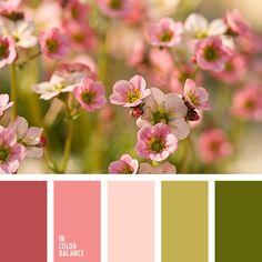 burdeos, color caqui, color melocotón, colores vintages, rosado pálido, tonos pastel, tonos rosados claros, verde oliva, verde oliva claro, verde pantano, verde pantano oscuro.