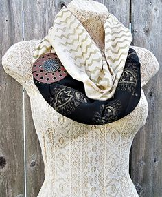 FREE SHIPPING Beige Organic Cotton Loop Scarf by Simpleboutique1