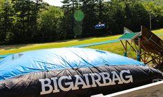 Sailing into the Big Air Bag! #adventure #bigairbag #gunstock #family #fun #newhampshire #visitnh