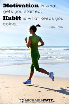 Health Motivation Motivation is what gets you started. Habit is what keeps you going. - Jim Rohn - Motivation is what gets you started. Habit is what keeps you going. Fitness Motivation Quotes, Health Motivation, Weight Loss Motivation, Fitness Tips, Exercise Motivation, Crossfit, Jim Rohn Quotes, Health And Wellness, Health Fitness