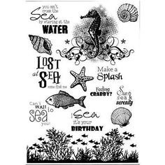 New JOY RUBBER STAMP clear Acrylic  UNDER THE SEA set free usa ship