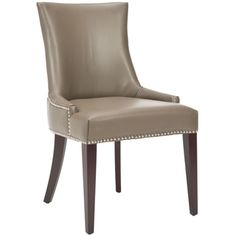 Safavieh Becca Grey Leather Dining Chair