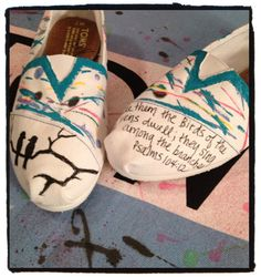 Scripture Custom Toms by CustomTOMSbyJC on Etsy, $89.00