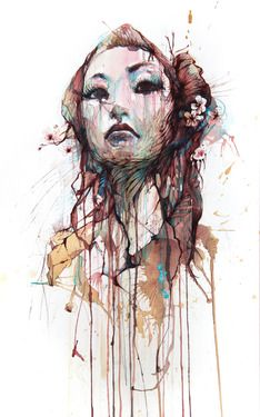 "Saatchi Online Artist Carne Griffiths; Drawing, ""Strength"" #art"