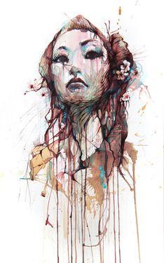 """Saatchi Art Artist Carne Griffiths; Drawing, """"Strength"""" #art"""