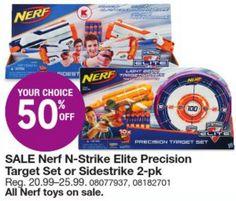 Kmart Black Friday Door Busters: 50% off Nerf N-Strike Elite Precision Target Set or Sidestrike 2 Pack