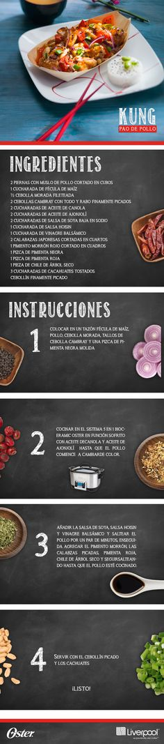 Lúcete preparando este Kung Pao de Pollo con tu Olla Multifunción Oster. http://bit.ly/1KamLq8