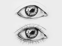 Augen zeichnen - Portrait zeichnen lassen vom Foto Happy Paintings, Watercolor Pencils, Art Techniques, Drawings, Drawings Of Eyes, Lips Sketch, How To Paint, Realistic Eye, Perspective Art