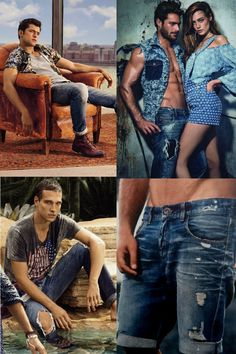 """O jeans rasgado já apareceu na moda deste inverno e promete ter vida longa no verão 2016. P0dem ser bem detonados ou ter rasgões mais discretos. """"O jeans rasgado é bem fashion e tem presença muito forte"""", diz o consultor Felipe Duarte."""