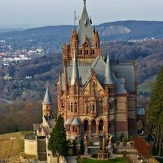 Schloss Drachenburg is a private Villa in Palace style constructed in the late 19th century. In only two years 1882 till 1884, it was completed on the Drachenfels hill in Königswinter, a German town at the Rhine River near the city of Bonn.