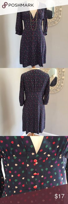 Marc by Marc Jacobs Navy Dress size 10 100 % silk Marc by Marc Jacobs Navy Dress size 10.  This dress is elegant and cute all at the same time! Can be dressed up or down for any occasion. Don't miss the adorable multiple pleat skirt detail. Marc by Marc Jacobs Dresses Midi