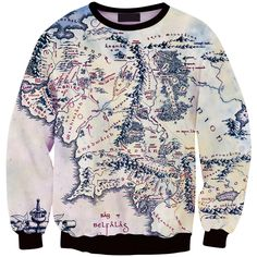 The Hobbit Middle Earth Map Pullover  //Price: $25.00 & FREE Shipping //     #BilboBaggins #lordoftherings #LOTR #thehobbit #hobbit #ExtendedEdition #Tolkien #Sauron #Smeagle #Frodo #myprecious #erebor # gandalfthegrey #filixkili #thehobbitanunexpectedjourney #radagastthebrown #theonering Radagast The Brown, Middle East Map, An Unexpected Journey, Lord Of The Rings, Middle Earth, The Hobbit, Digital Prints, Floral Tops, Women's Clothing