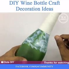 DIY Home Decor Ideas homedecor decoration creative designs homedesign crafts Glass Bottle Crafts, Wine Bottle Art, Painted Wine Bottles, Diy Bottle, Glass Bottles, Diy Crafts For Home Decor, Bottle Painting, Decoration, Decor Ideas