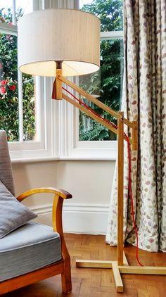 Handmade Standard Floor Lamp In Oak Or Ash