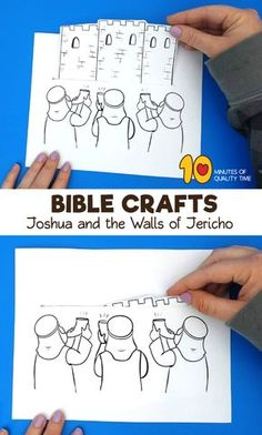 Joshua and the Walls of Jericho Craft Bible Activities For Kids, Bible Crafts For Kids, Preschool Bible, Bible Lessons For Kids, Preschool Crafts, Sunday School Crafts For Kids, Sunday School Activities, Bible Story Crafts, Bible Stories
