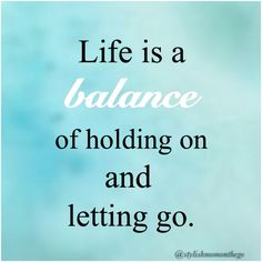 Balance is