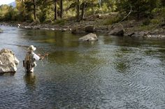 Fly fishing. Kalispell, MT