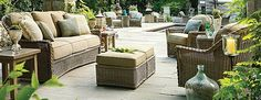 Transform your outdoor space into a stylish oasis with the array of patio furniture sets at Frontgate. Shop our outdoor furniture collections now. Patio Furniture Sets, Luxury Home Decor, Bar Stools, Lanai Ideas, Patio Sets, Collections, Outdoor Decor, Entertaining, Decorating