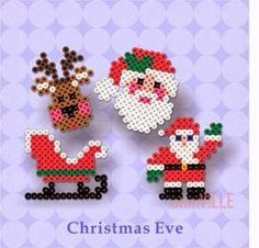 Perler Beads ~ Hama Beads, Fuse Beads ~ Create Just About… Christmas designs, birds, pac man ghost, etc. Hama Beads Design, Diy Perler Beads, Perler Bead Art, Fuse Bead Patterns, Perler Patterns, Beading Patterns, Christmas Perler Beads, Motifs Perler, Peler Beads