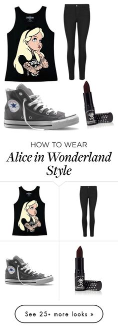 """""""Untitled #13"""" by tylorisme on Polyvore featuring Disney, Converse and Manic Panic"""