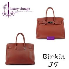 HERMES Birkin 35 Rouge Venetian Clemence With Palladium Good Condition Ref.code-(KSOT-1) More Information Or Price Pls Email  (- luxuryvintagekl@ gmail.com)
