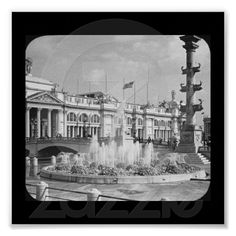 Poster-Chicago World's Fair-Electric Fountain 2