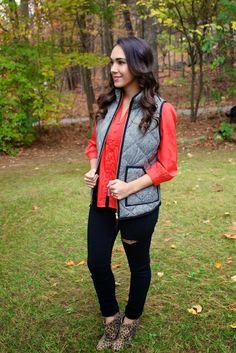 Herringbone Vest Outfit Options
