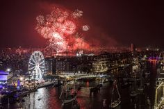 Awesome view of SAIL Amsterdam 2015 from roof Mövenpick Hotel