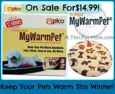 MYWARMPET HEATING PAD FOR PETS ON SALE NOW FOR $14.99 (USUALLY $24.99-$59.99) SHIPS FREE!