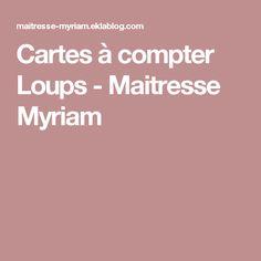 Cartes à compter Loups - Maitresse Myriam