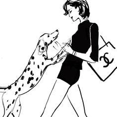 Chanel and Dalmatian. Jason Brooks Art