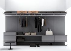 8emezzo Vanity Walk In Wardrobe in Grey