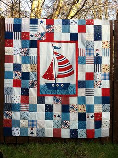 Quilt top for my oldest boy by Fiona @ Poppy Makes, via Flickr