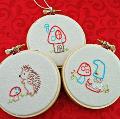 Christmas Ornament  Hedgehog Ornament Gnome by sewfaithful on Etsy,