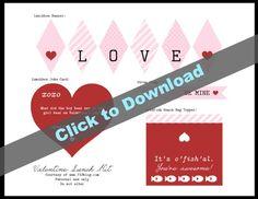 Valentine's Day Printables   TodaysCreativeBlog.net