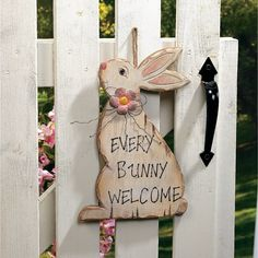 """""""Every Bunny Welcome"""" Sign - OrientalTrading.com"""