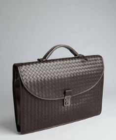 Bottega Veneta brown intrecciato leather #briefcase make a great #gift this #valentinesday for the stylish man.