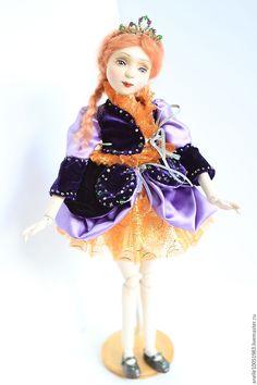 """Купить Авторская шарнирная кукла """"Алиса"""" - комбинированный, кукла, коллекционная кукла, подарок, сувенир"""