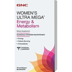 Clinically Studied Multivitamin<ul><li>Energy</li><li>Calorie Burning</li><li>Antioxidants</li></ul>More antioxidant power than ever and over 30 clinically studied ingredients in every formula - all in smaller, easier-to-swallow pills.<li>Women's Health<br>Contains a clinically studied women's multivitamin formula shown to work better than a basic multivitamin. Helps to support bone health.*</li><li>Energy</li>Shown to improve levels of key B vitamins essential for energy…