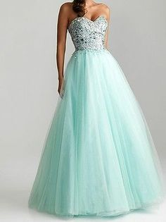 New Custom Sweetheart Tulle Evening Ball Formal Prom Party Dresses Wedding Gown