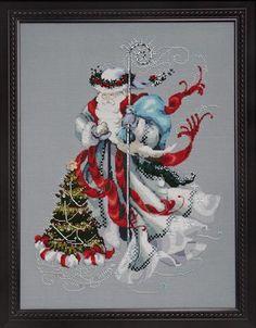 Winter White Santa - Cross Stitch Pattern - 123Stitch.com