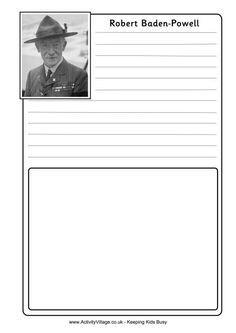 Robert Baden-Powell notebooking page