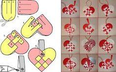 decoração de coração de papel - Pesquisa Google