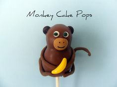 monkey cake pops. I think I can make these into a girl monkey for Rosie...